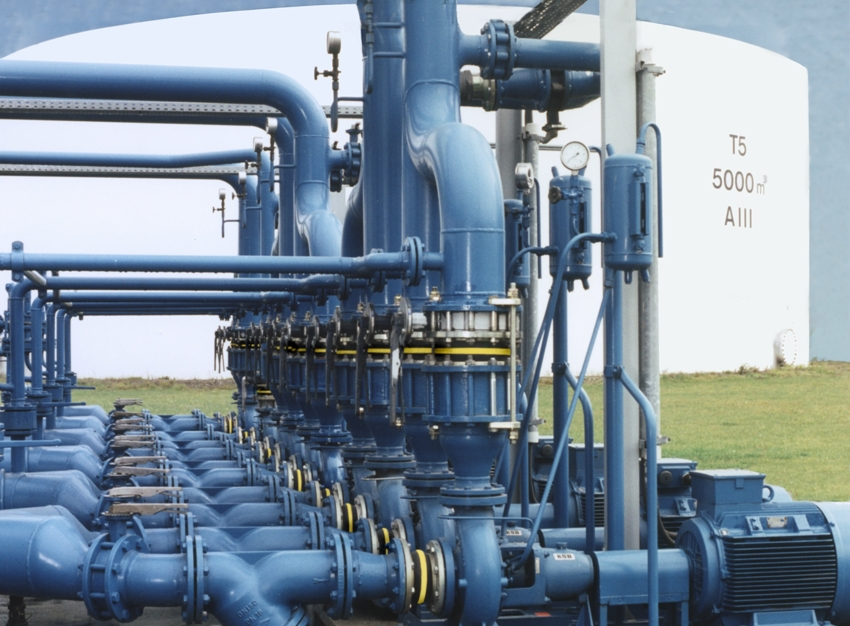 expansion joint pump piping